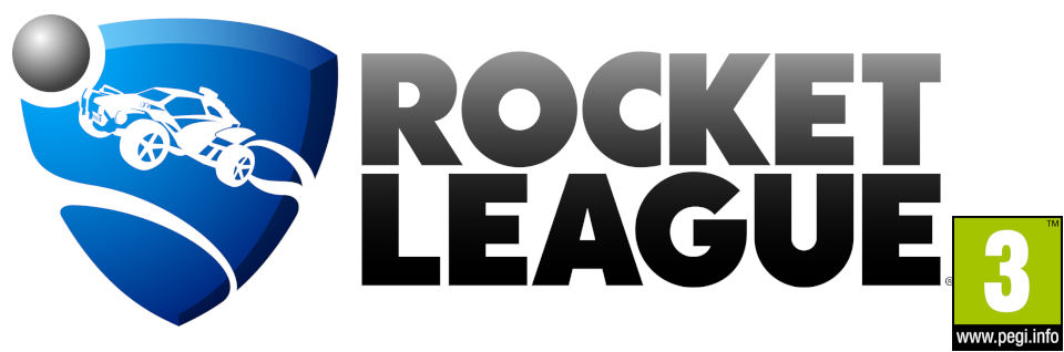 Rocket League logo with PEGI