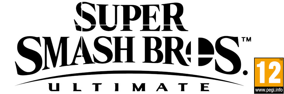logo super smash bors ultimate logo with PEGI